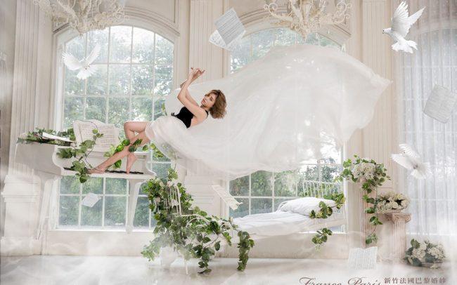 新竹法國巴黎婚紗 飄浮婚紗攝影